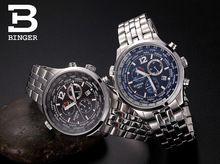Relojes de marca de Lujo de los hombres relojes deportivos de cuarzo de zafiro completa de acero inoxidable relojes hombres BG-0385(China (Mainland))