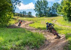Horseshoe Valley - MTB DH Trail - Ontario Bike Trails Blue Mountain, Mountain Biking, Horseshoe Valley, Canada Cup, Ski Hill, Mtb Trails, Downhill Bike, Trail Guide, Bike Parking