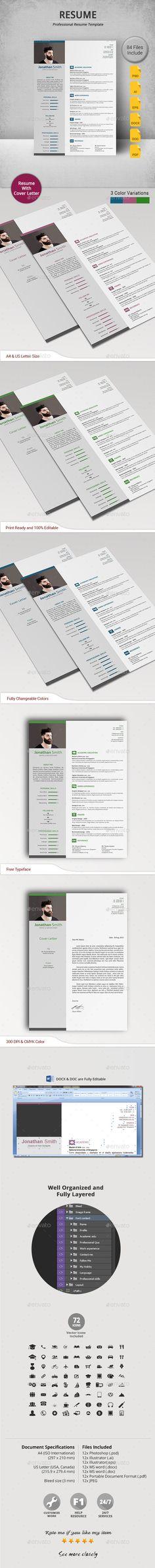 Resume Word Resume template download, Modern resume template and - professional resume template download