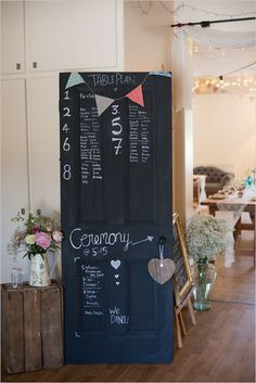 DIY a door menu. | 18 Clever Tips To Make A $5,000 Dream Wedding Come True