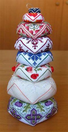 Basket of biscornu