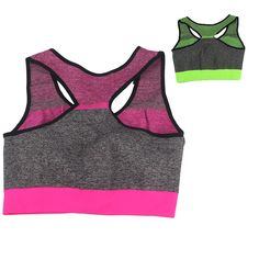 Sports Bra High Quality Spandex+Polyester For Girl Running Yoga Fitness Green And Red Quick Dry Underwear