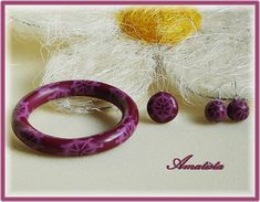 Conjunto flor morada by el rincón de amatista, via Flickr