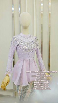 Model Kebaya Modern, Kebaya Modern Dress, Kebaya Dress, Kebaya Wedding, Dress Outfits, Fashion Dresses, Hijab Dress Party, Muslim Dress, Kids Frocks