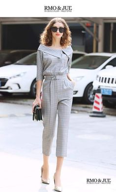 Stylish Work Outfits, Stylish Dresses For Girls, Pretty Outfits, Chic Outfits, Girls Fashion Clothes, Fashion Pants, Fashion Dresses, Clothes For Women, Casual Asian Fashion