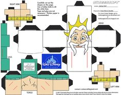 """King Triton and Scuttle from Disney's The Little Mermaidin Cubee form!! This Cubee has 2 pages, make sure to click """"Download File"""" to get both pages!!!!!!!! Just click on the download link to..."""