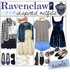 """Ravenclaw Inspired Outfits"" by outofthisworld-tips ❤ liked on Polyvore"
