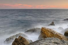 Seascape Print featuring the photograph Rocks And Waves by Guido Montanes Castillo