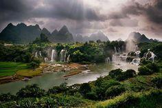 Paisagens da China - Cachoeiras de Ban Gioc-Detian