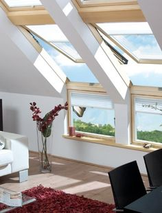 Add more glass    When planning your loft conversion, if your budget and building design allows, there are plenty of different unconventional types of window to choose from. Other than the traditional tilt and turn roof design, you can choose from oversized windows, multiple windows or even a balcony if you have the space.