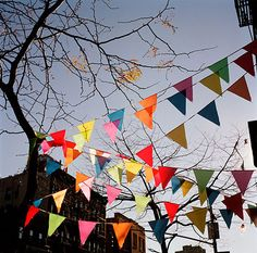 is the best place for affordable art. Winter Flags (East Village, New York) by Youngna Park is one of my all-time favorites. Make Bunting, Bunting Banner, Buntings, Rainbow Bunting, Party Bunting, Fabric Bunting, Bunting Ideas, Party Flags, Flag Banners