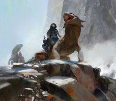 lizard rider, Yun Ling on ArtStation at https://www.artstation.com/artwork/lizard-rider-8f5c6ec9-0ad8-408b-8413-70acd426fb24