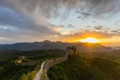 Great Wall of China Sunset Curses Of Long Term Travel