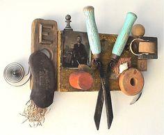 assemblage art  'for daddy's helper' by mylittlelovebox