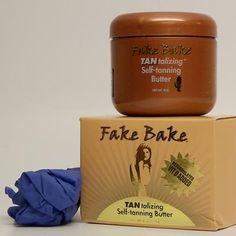 The perfect combination to maintain & moisturize your tan.   Fake Bake Self-tanning butter combines Premium Botanical Butters to give your skin long-lasting moisture along with small percentages of two tanning agents to achieve a light, soft bronze tan. May also be applied daily as a moisture cream to aid in maintaining and prolonging your existing sunless tan.   The chocolate brown color acts as a color guide for a streak-free application.