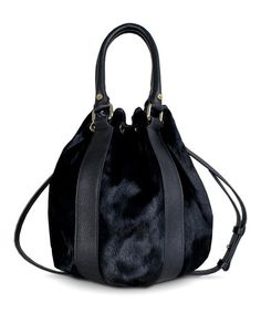YES YES YES!!!  Please and THANK YOU!!!   Black Angelica Drawstring Bucket Bag by BODHI