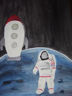 Outer Space art for children by Tricia