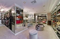 love the purse & shoe showcase. the mirrored look is very chic & elegant!        upload photo