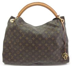 AUTH LOUIS VUITTON Brown Artsy GM Monogram Hobo Extra Large Size Handbag at www.ShopLindasStuff.com
