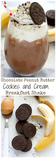 In my opinion, the very best breakfasts are ones that can easily double as dessert. A minimal amount of work, effort, and dish cleaning also makes for an ideal morning meal situation. No more than 2 dirty dishes before noon… it's a law in our house. The good news…? This Chocolate Peanut Butter Cookies and Cream...