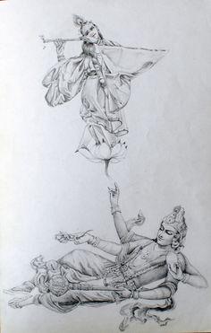 https://flic.kr/p/EXAzAP | buddah drawing, dancing girl, tattoo sketch by Kirillnbb