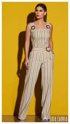 Vogue Fashion, Fashion Pants, Fashion Dresses, Fashion Tips, Fashion Design, Classy Fashion, 80s Fashion, Jumpsuit Dress, Jumpsuits For Women