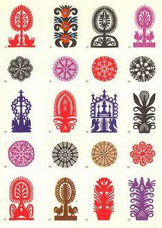 Polish, folk, colorful folk paper cut-outs.Papierowy świat: Wycinanki, na dobry…