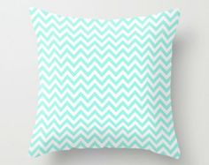 Funky Chevron Print Pillow Cover. A quick way to update your decor, add some color with a new trendy pillow cover. Can customize color.