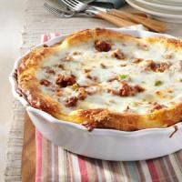 pizza pie from Tim Tebow's mom - made this tonight and it is a KEEPER!  Def going into rotation.
