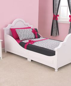 Another great find on #zulily! White Raleigh Toddler Bed by KidKraft #zulilyfinds