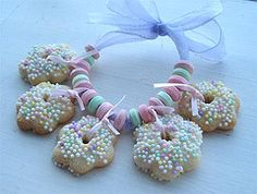 cookie charm bracelet...this would be soooo cute to do for a little girl's party!