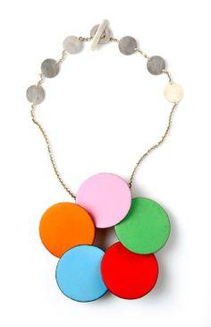 Daniel Kruger's necklace. Made of enamel on copper, silver.