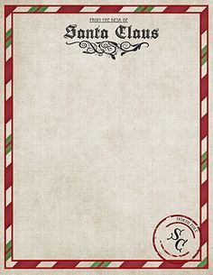 More Free Printable Santa Stationery