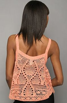 CARAMELO DE CROCHET: top en ganchillo