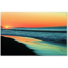 Beata Czyzowska Young 'Good Morning Sunshine' Canvas Art (£48) ❤ liked on Polyvore featuring home, home decor, wall art, backgrounds, art, scenery, ocean, fillers, beach and blue
