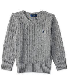 Ralph Lauren Boys' Cable Knit Sweater, Toddler Boys (2T-5T) & Little Boys (2-7)