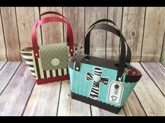 Stamping Jill - How to Make a Bag With 12x12 Designer Series Paper - YouTube