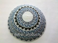 Kippah Jewish Kipa Hand Knit Kippot Vog 18cm Judaica Crochet Yarmulke Hand made Kipa #1808