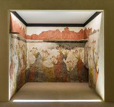 Spring fresco Akrotiri NAMA - Akrotiri (Santorin) — Wikipédia