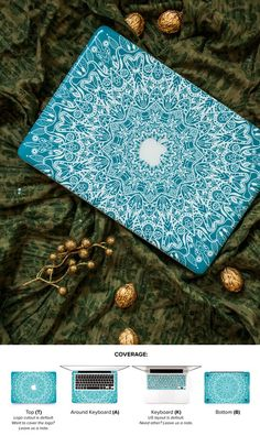 Macbook top cover with beautiful mandala.