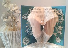 Book Sculpture,Altered Book,Book Art,Butterflies,Flowers,Birthday Gift,Paper Flowers,Butterfly Gift,Gift for Her,Book Page Flowers by BookFancy on Etsy
