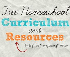 Click through for a HUGE list of homeschool freebies, printables, resources, and more!