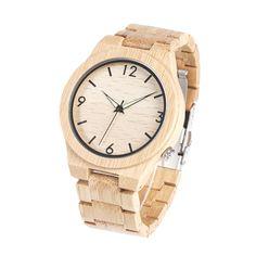 Quartz Bamboo Wood Watch for Men