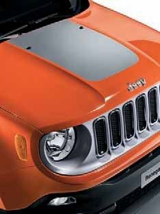 Jeep Renegade Bonnet Decal in Silver - 71807399
