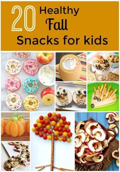 These healthy fall snacks are sure to be parent approved while also making kids' taste buds do a happy dance! These fun snacks for kids are also easy to make. Use theme as fall snacks at home or for class parties. Thanksgiving Snacks, Fall Snacks, Cute Snacks, Healthy Snacks For Kids, Thanksgiving Dressing, Creative Snacks, Healthy School Snacks, Healthy Halloween Snacks, School Lunches