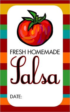 Embellish: {recipe & free printable} Canning Homemade Salsa & Free Printable