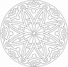 Detailed Coloring Pages For Adults | Mandala Printable Coloring Pages For Adults and Older Kids