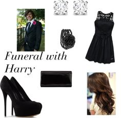"""Funeral with Harry"" by one-direction-outfits1 ❤ liked on Polyvore"