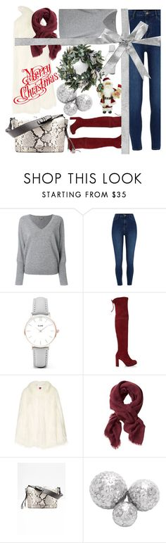 """winter shopping 🎁"" by ladyelen ❤ liked on Polyvore featuring N.Peal, River Island, CLUSE, Stuart Weitzman, House of Fluff, Banana Republic and Zadig & Voltaire"
