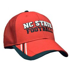 NC State Wolfpack Adidas Red Sideline Player Structured Mesh Flex Youth Hat